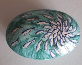 Ceramic Oval Box