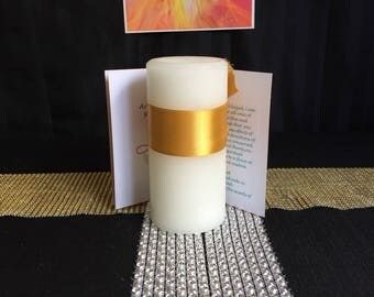 Pure angels candle and prayer pack Archangel Zadkiel