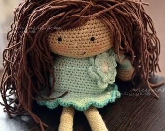 Crochet amigurumi doll Handmade doll Doll for a gift Organic doll Baby shower doll
