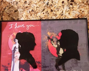 Star Wars Han and Leia Wall Decor