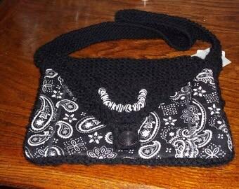 Bandanna print purse