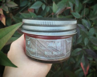 Salvatore - 4 oz. Bookish Soy Candle - Vampire Diaries - Wilted Wicks