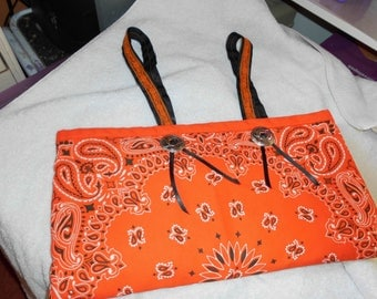 fabric hand bag with extra bags