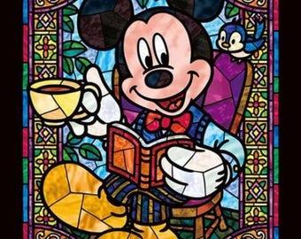 5D DIY Diamond painting Mickey Mouse Cartoon Mosaic Cross Stitch Full Square Drill 3D Diamond Painting kit Sticker Home Decoration Kids