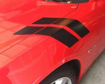 Dodge Charger Fender Stripe Hash Mark Vinyl Decal Set 2011 2012 2013 2014 2015 2016 2017 2018 MOPAR SRT HEMI Scat Pack Hellcat