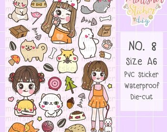 Hand-drawing Stickers No.8 my pets!