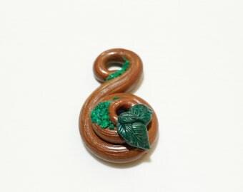 Infinity bark swirl faux wood pendant