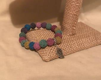 Multi colored lava bracelet