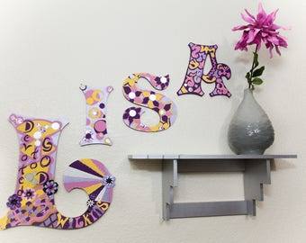 YOUnique Child Baby Room Wall Art (4-5 Letters) Option #1