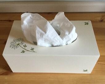 Cow Parsley design Rectangular Tissue Box Cover