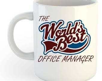 The Worlds Best Office Manager Mug