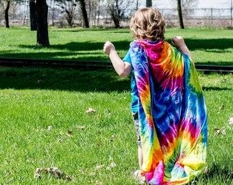 Rainbow Tie Dye Bamboo Swaddle Blanket