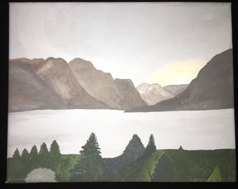 Mountains and Lake painting