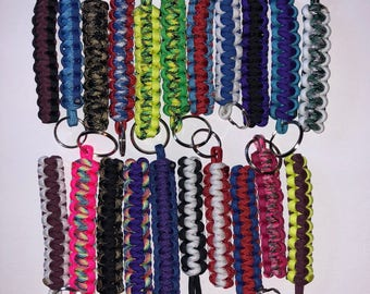 """Paracord Keychain Two Color Keychains- 5"""" Keychains 550 Paracord"""