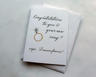 Congratulations to you and your new ring card