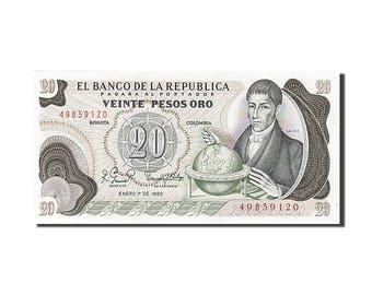 colombia 20 pesos oro 1982 km #409d 1982-01-01 unc(65-70) 49839120
