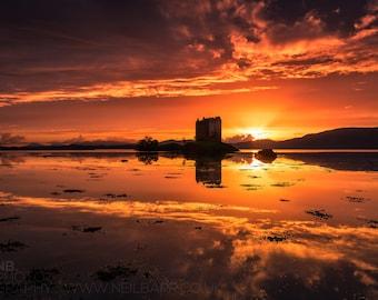 """A3 Print - """"Castle Stalker"""" - Fine art landscape photography print"""