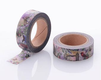 Bird/Flower Washi Tape - 15mm x 10 Meters - #SW118