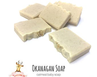 Gentle Oatmeal Baby Soap - Handmade Artisan Soaps - All Natural Organic Soap - Vegan Baby Soap - Baby Shower Gift - Soaps for kids