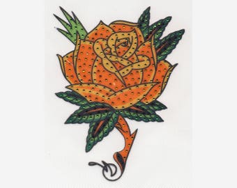 Rhinestone/Foil Ironing motif ta 008-Rose