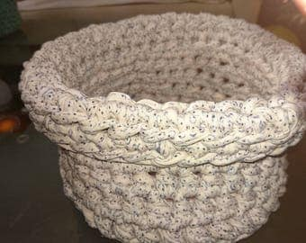 White Blue Basket