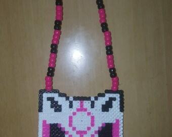 Kandi wolf necklace