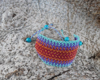 Four color Macrame bracelet
