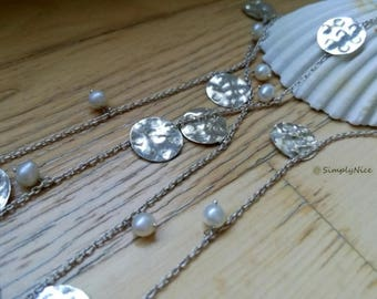 Pearls and Coins Necklace
