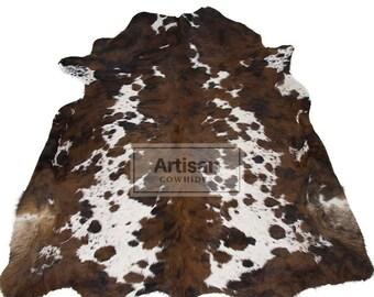 Spotted Tricolor Cowhide Rug - Premium Tricolor Cowhide Rug