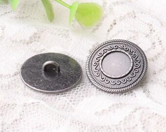 buttons bohemian buttons 10pcs light black buttons 20*6mm round metal buttons shank buttons coat buttons