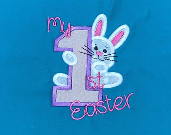 First Easter Applique with Bunny