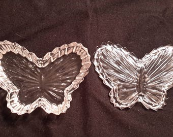 Crystal butterfly trinket dish