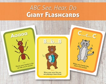 ABC See, Hear, Do Giant Printable Flashcards