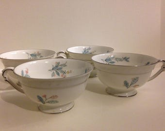 four Franciano China cups