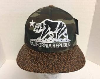California Republic Snapback Hat