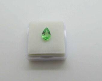 Pretty Nice tone Tsavorite/pear shape 1.45ct