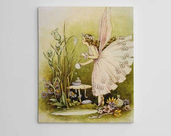 Powder Puff Fairy Wall Art