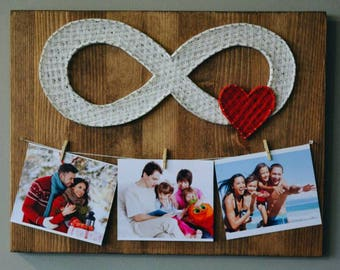 Picture frame set Rustic frame collage Rustic frame set  String Art Infinity Love Art Infinity Wall Art Love String Art Infinity Wall Decor