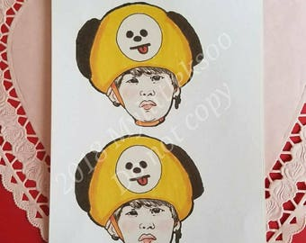 Bts Suga Chimmy Sticker Sheet