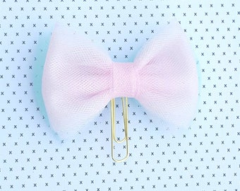 Tulle bow clip (double sided)