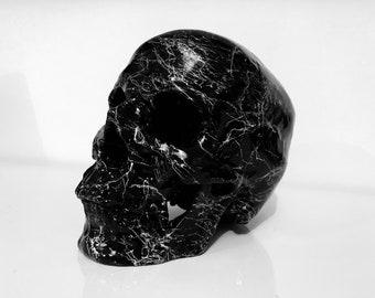 Handmade Black Marble Skull