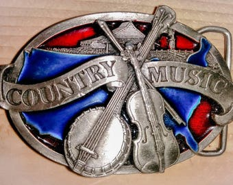 Vintage country music belt buckle