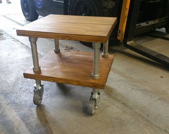 Side Table on Wheels - SPS Bespoke