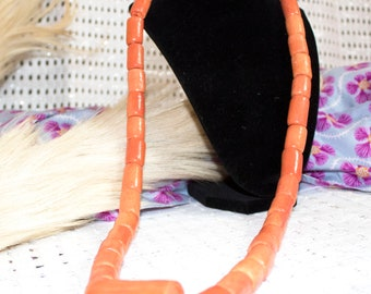 Long Royal Coral Bead Necklace for traditional wedding/Igbo wedding/benin/edo wedding