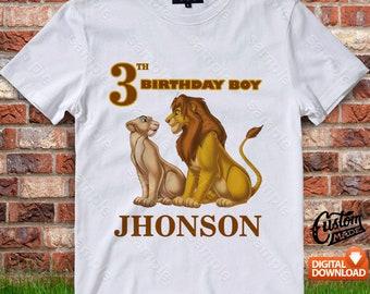 Lion King Iron On Transfer, Lion King Birthday Shirt DIY, Lion King Shirt Design, Lion King Printable, Lion King, Personalize, Digital Files