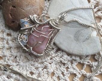Raw Mermaidian Opal Necklace