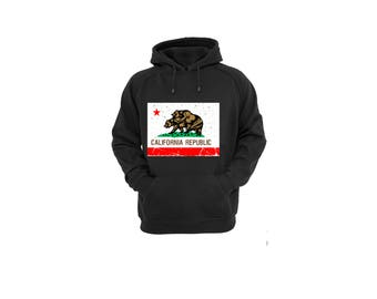 Hoodies for Women and Men California Bears Humping Flag , Unisex California  Republic Vintage Cotton Pullover Sweatshirt, State Flag Shirt