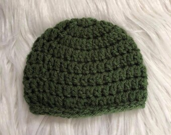 Crochet Newborn Beanie/ Newborn Beanie/ Baby boy beanie