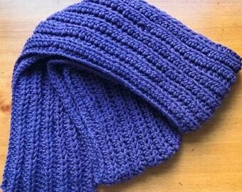 Extra long ribbed scarf