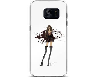 VAMPS & FEATHERS Fashion Couture Illustration Samsung Case